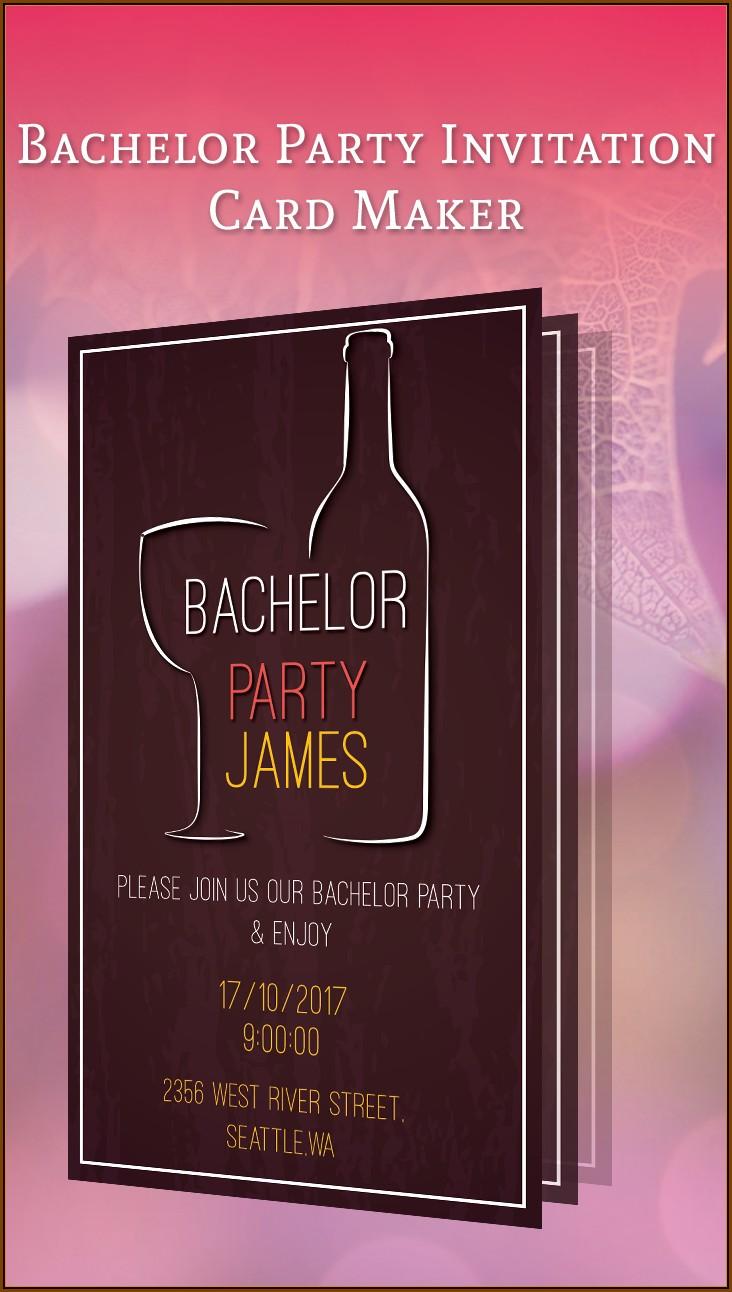 Bachelor Party Invitation Maker