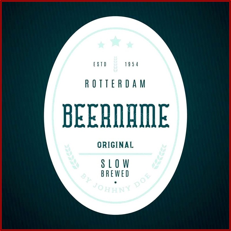 Beer Bottle Neck Label Template Free