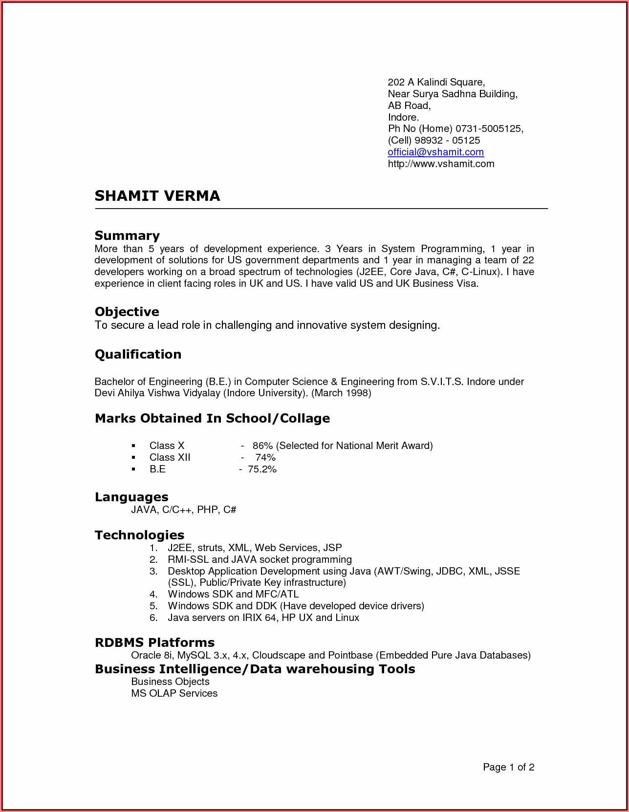 Best Current Resume Templates