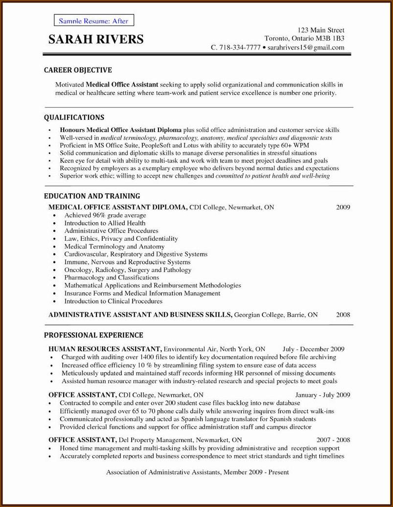 Best Free Medical Resume Template