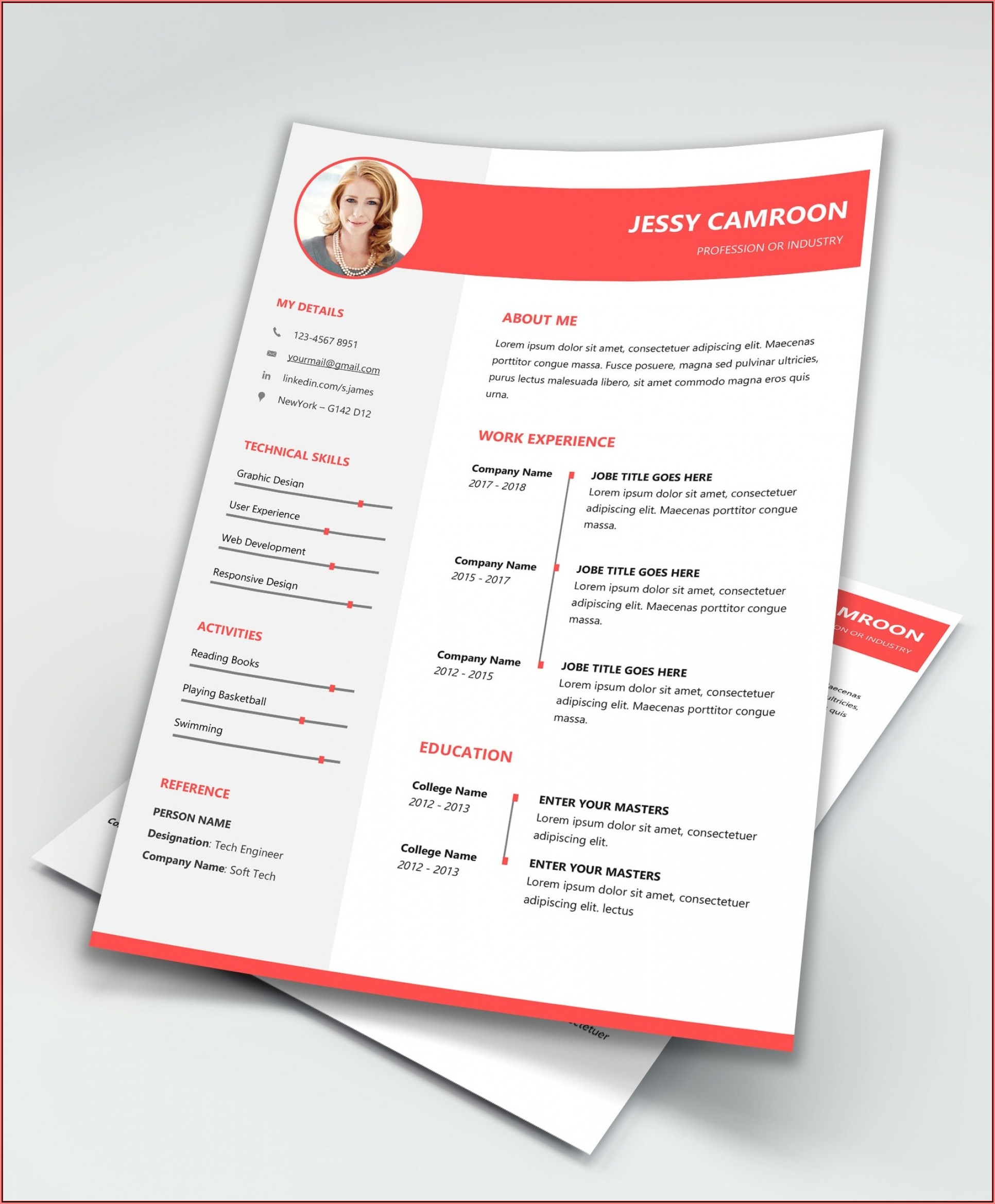 Best Resume Templates Free Download 2018