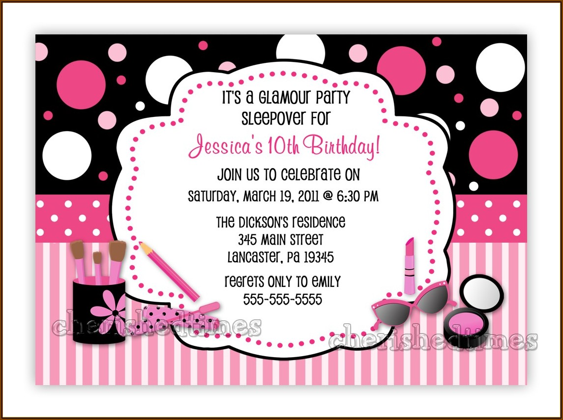 Birthday Party Invitations Templates Word