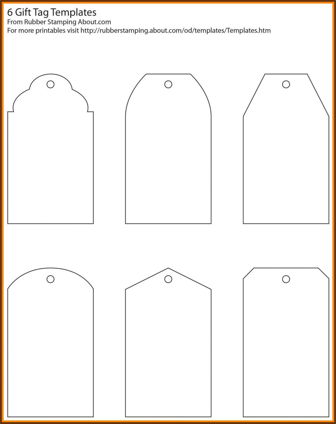 Blank Favor Tag Template