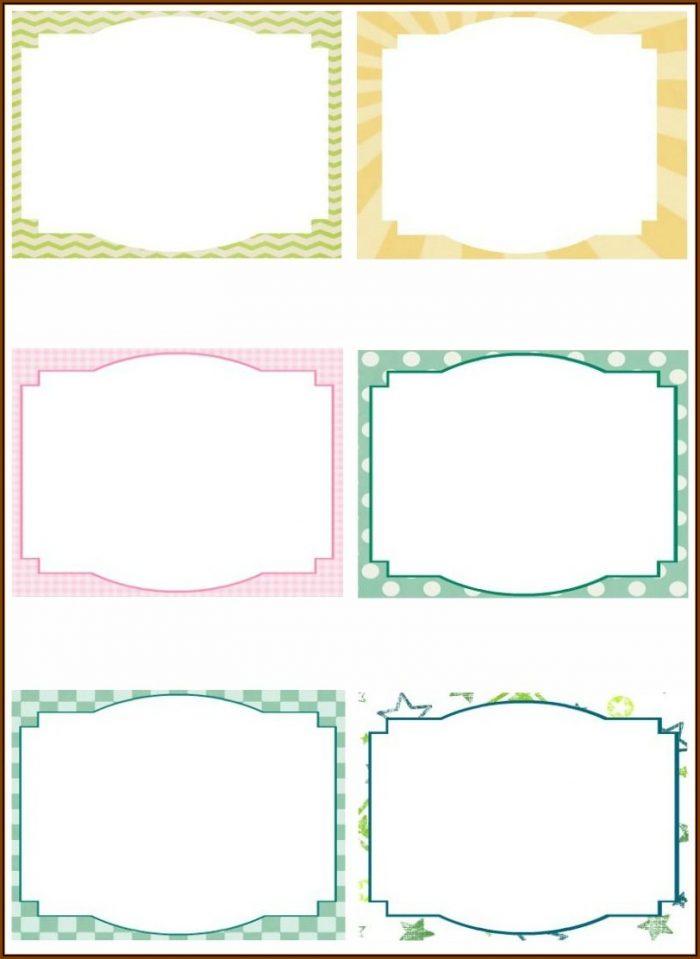 Blank Flash Card Template