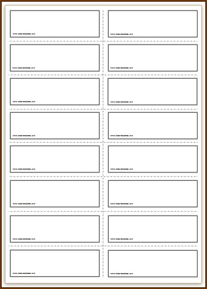 Blank Flashcard Template Free Download