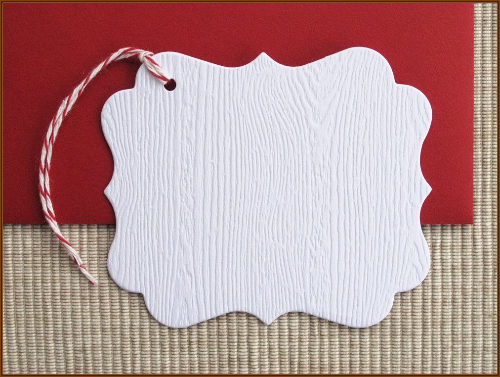 Blank Gift Tag Template Free