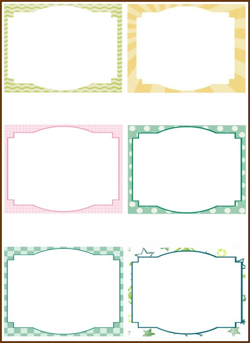 Blank Note Card Template Free Download