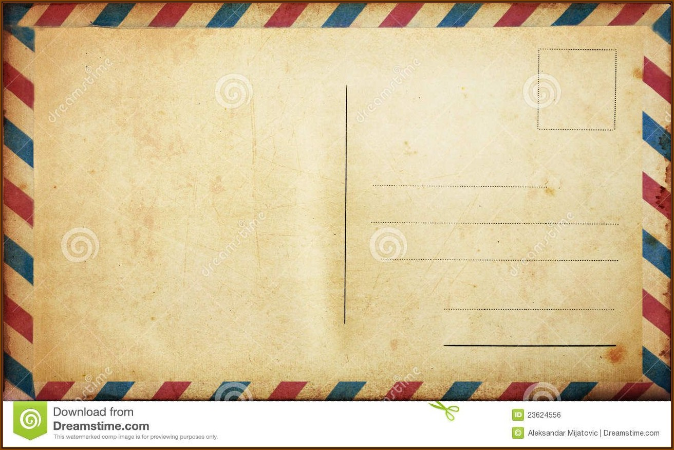 Blank Postcard Template Free