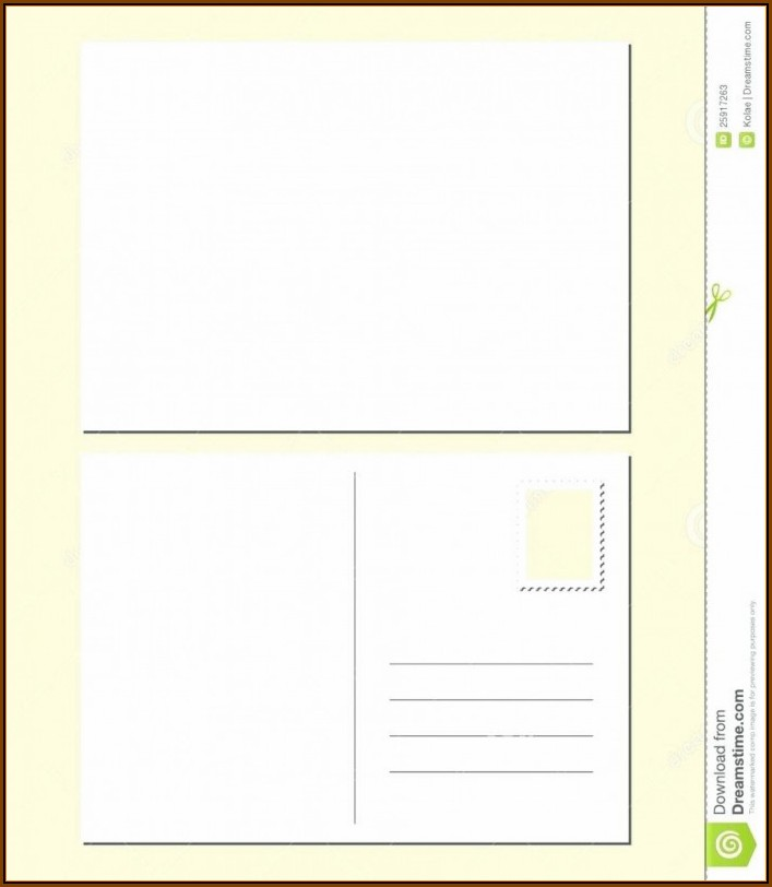 Blank Postcard Template Word Free