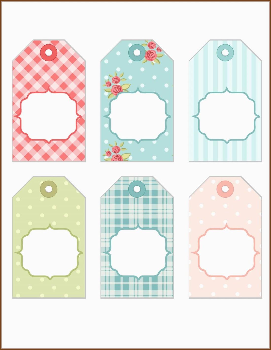 Blank Printable Gift Tag Template