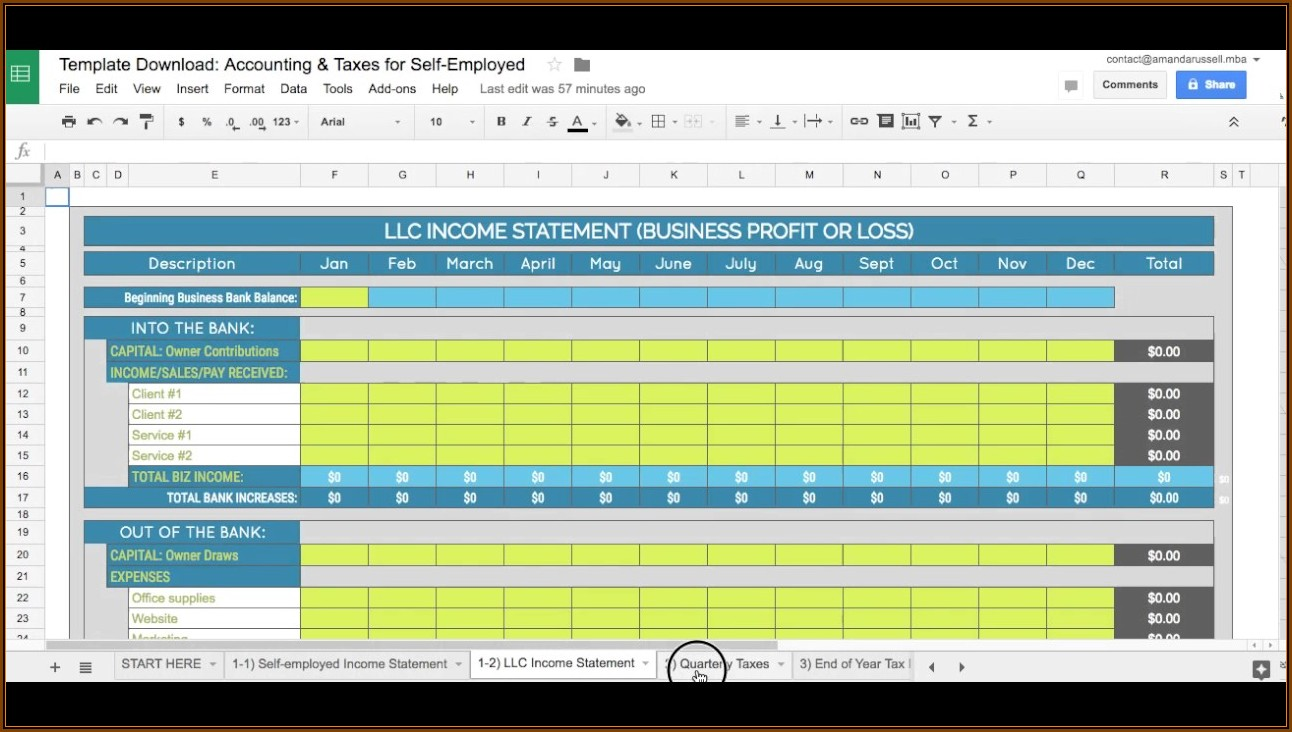 Bookkeeping Templates For Self Employed Australia