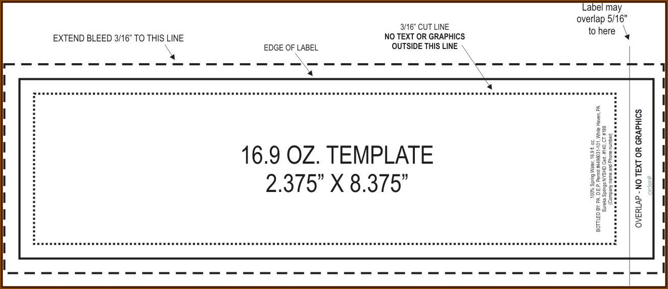 Bottle Label Template Free Word