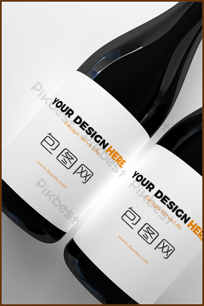 Bottle Label Template Psd Free