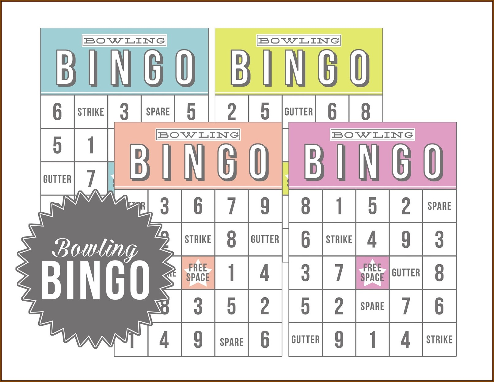Bridal Shower Bingo Templates Printable