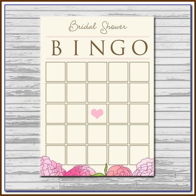 Bridal Shower Bingo Templates