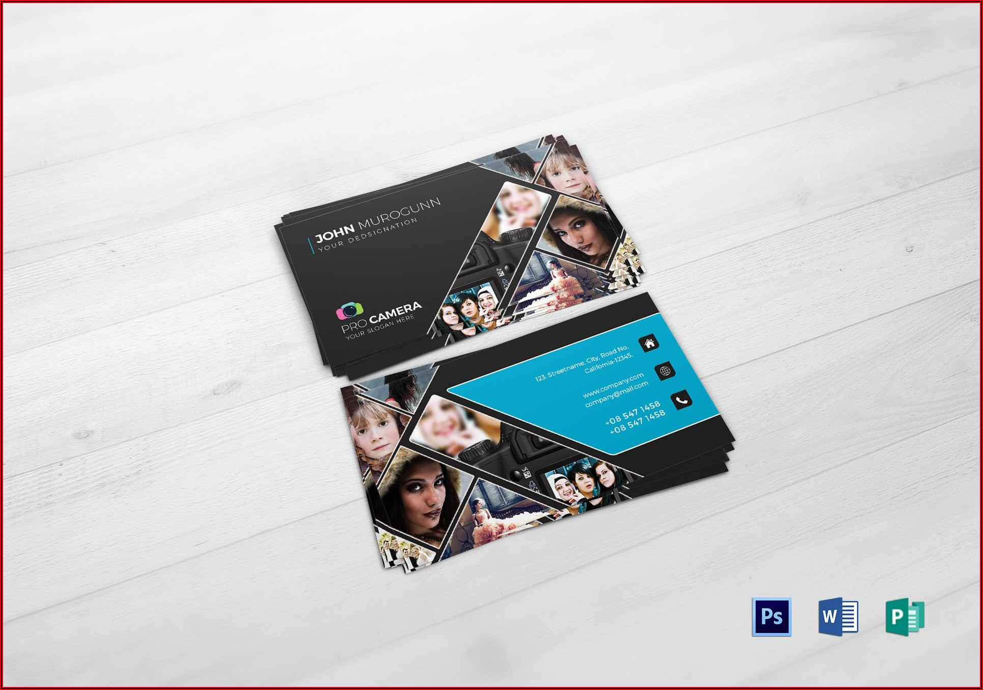 Business Cards Photography Templates