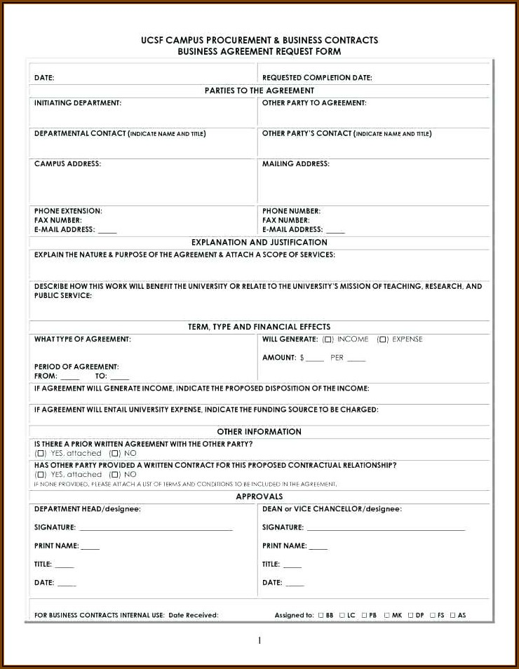 Business Partnership Agreement Template Free Download South Africa
