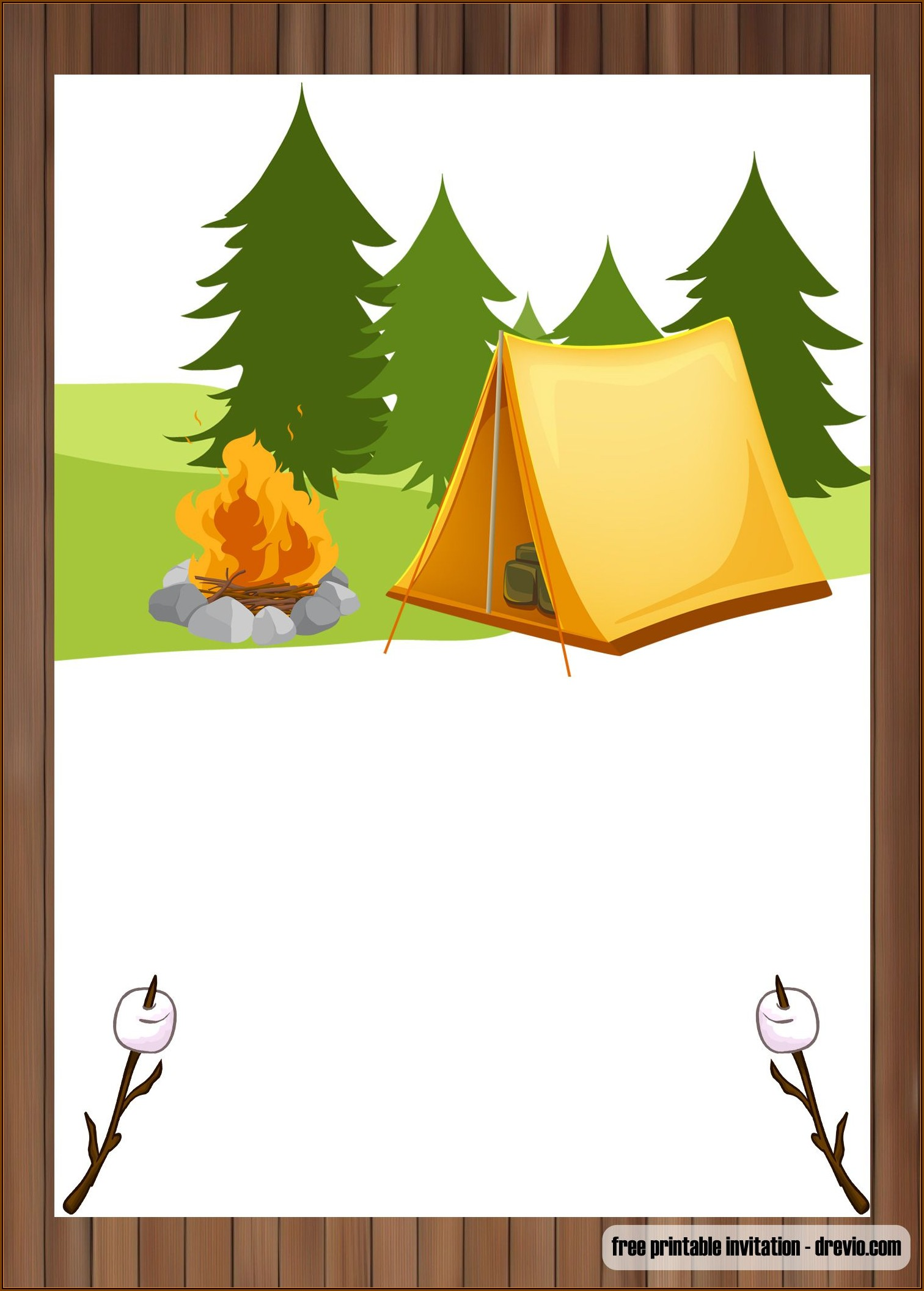 Camping Invitations Templates Free