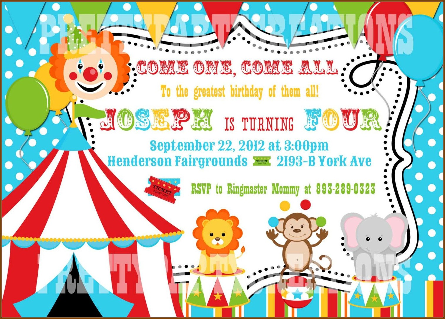 Carnival Party Invitation Template Free