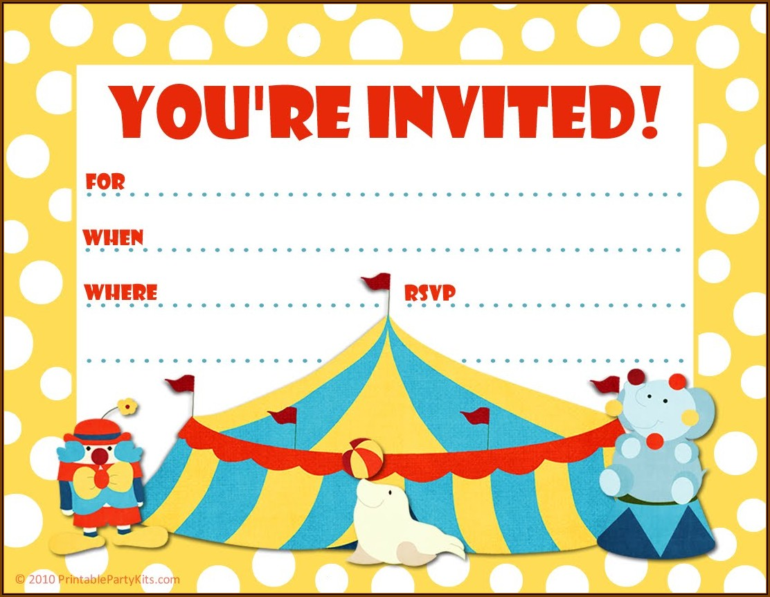Carnival Themed Invitation Template Free