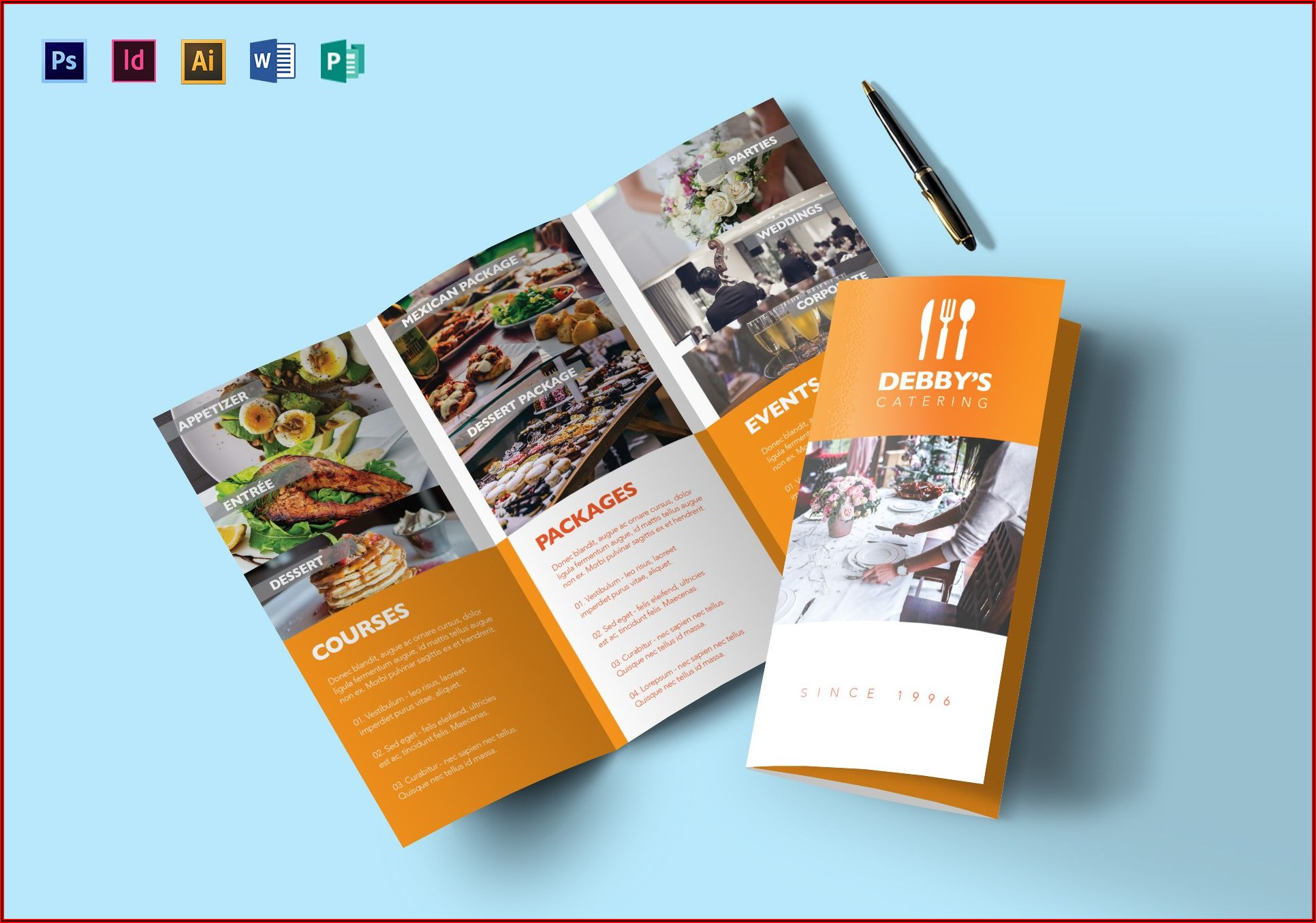 Catering Services Brochure Template