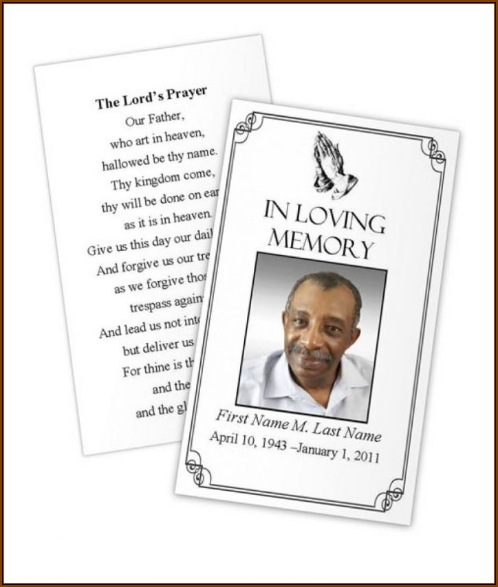 Catholic Funeral Prayer Card Template