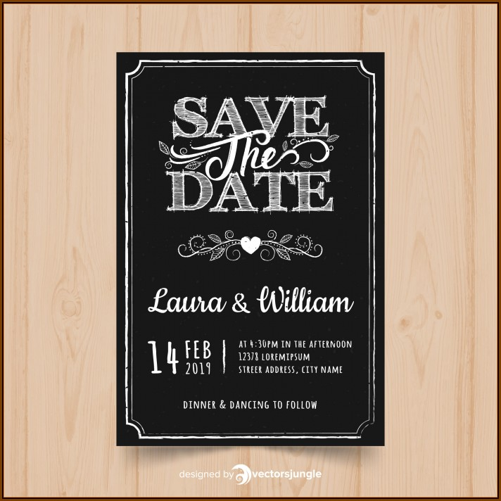 Chalkboard Invitation Template Free Download