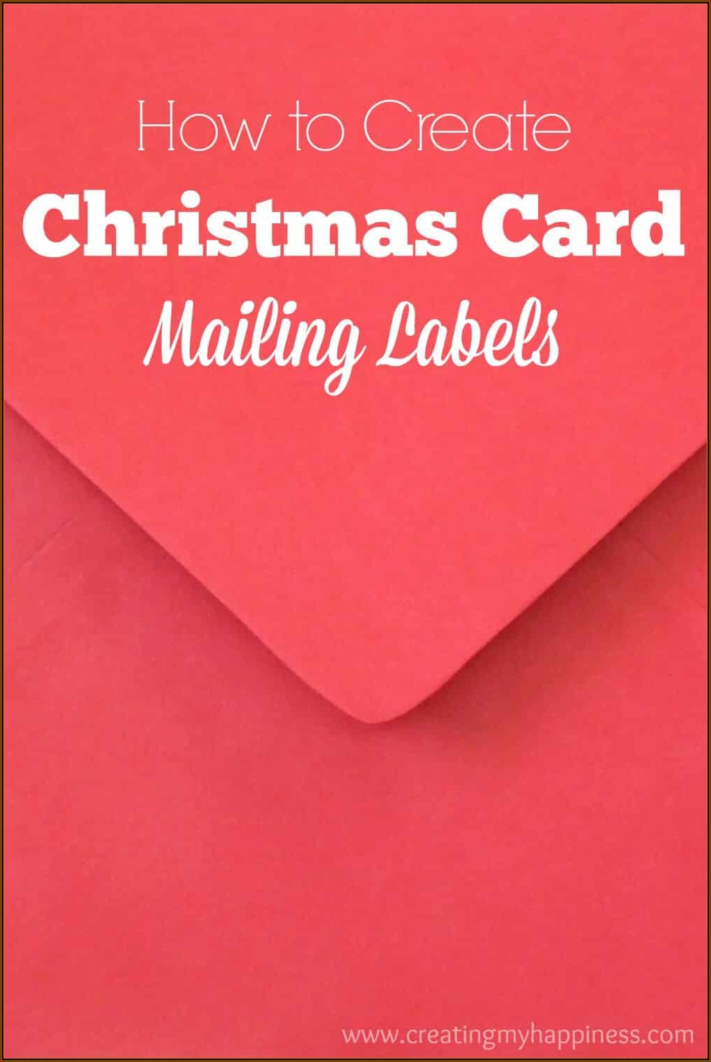 Christmas Card Return Address Label Template