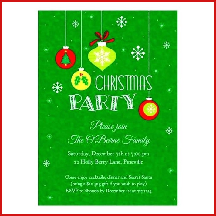 Christmas Invitation Template For Word