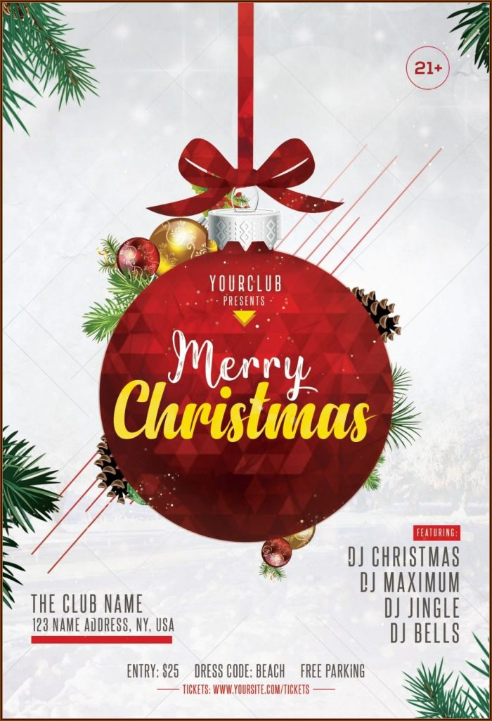 Christmas Party Flyer Template Free Word