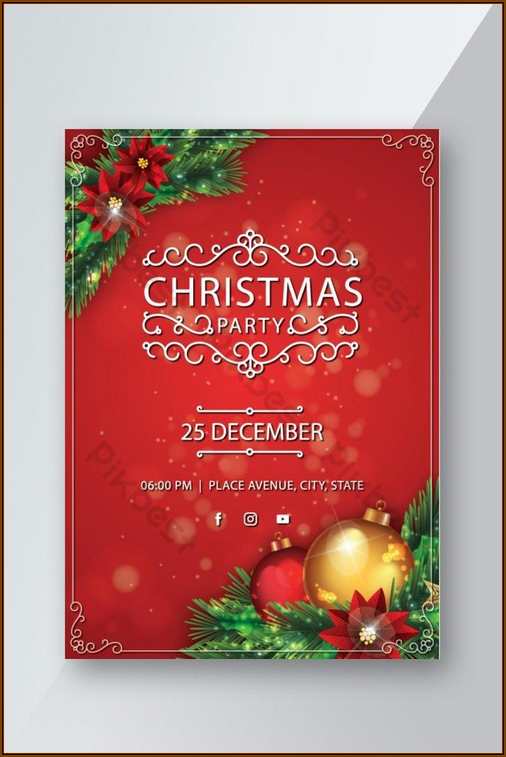 Christmas Party Flyer Template Free