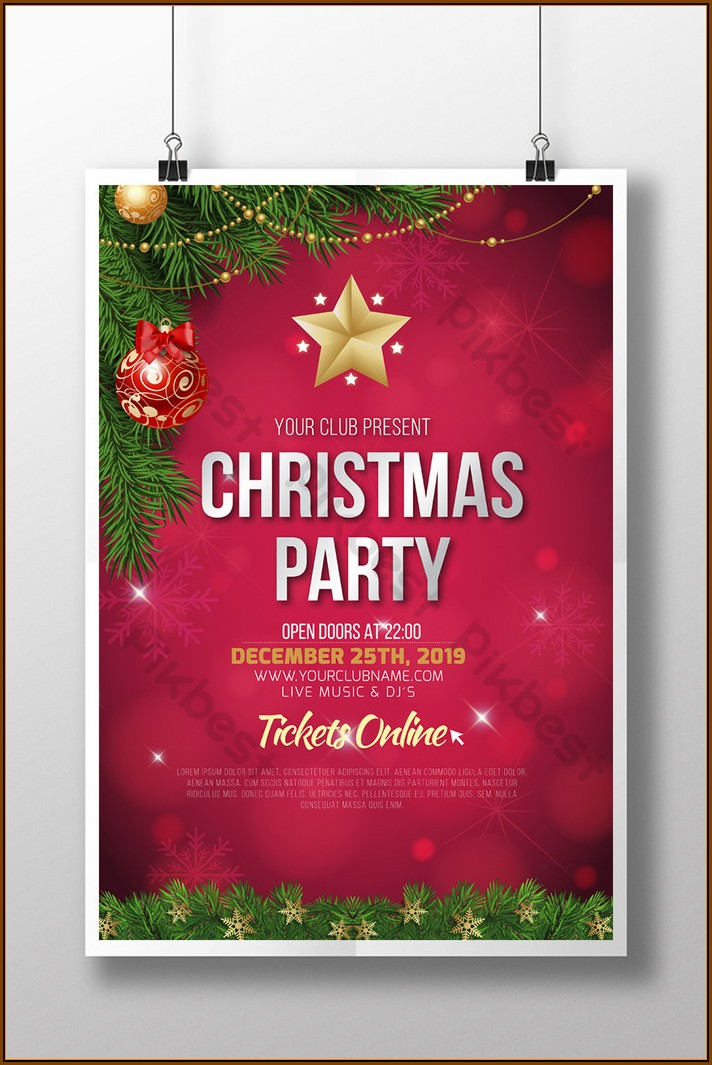 Christmas Party Flyer Template Online