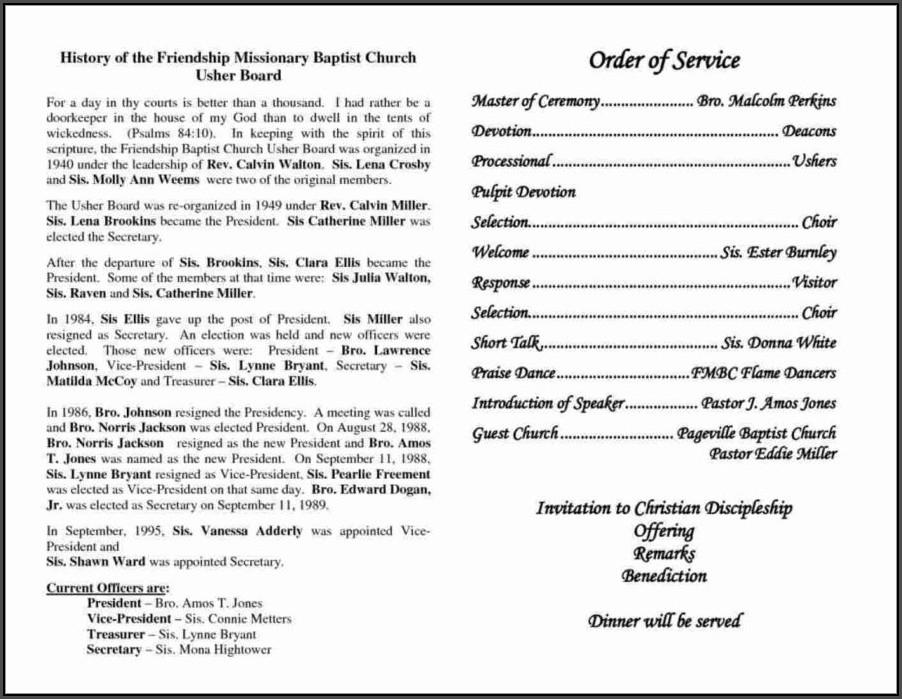 Church Anniversary Program Template