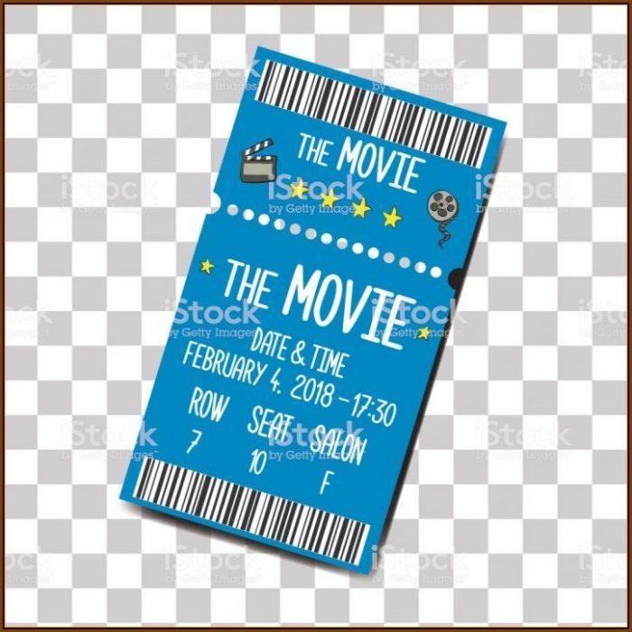 Cinema Ticket Invitation Template Free