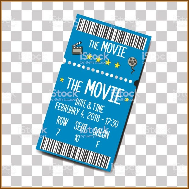 Cinema Ticket Invitation Template Free