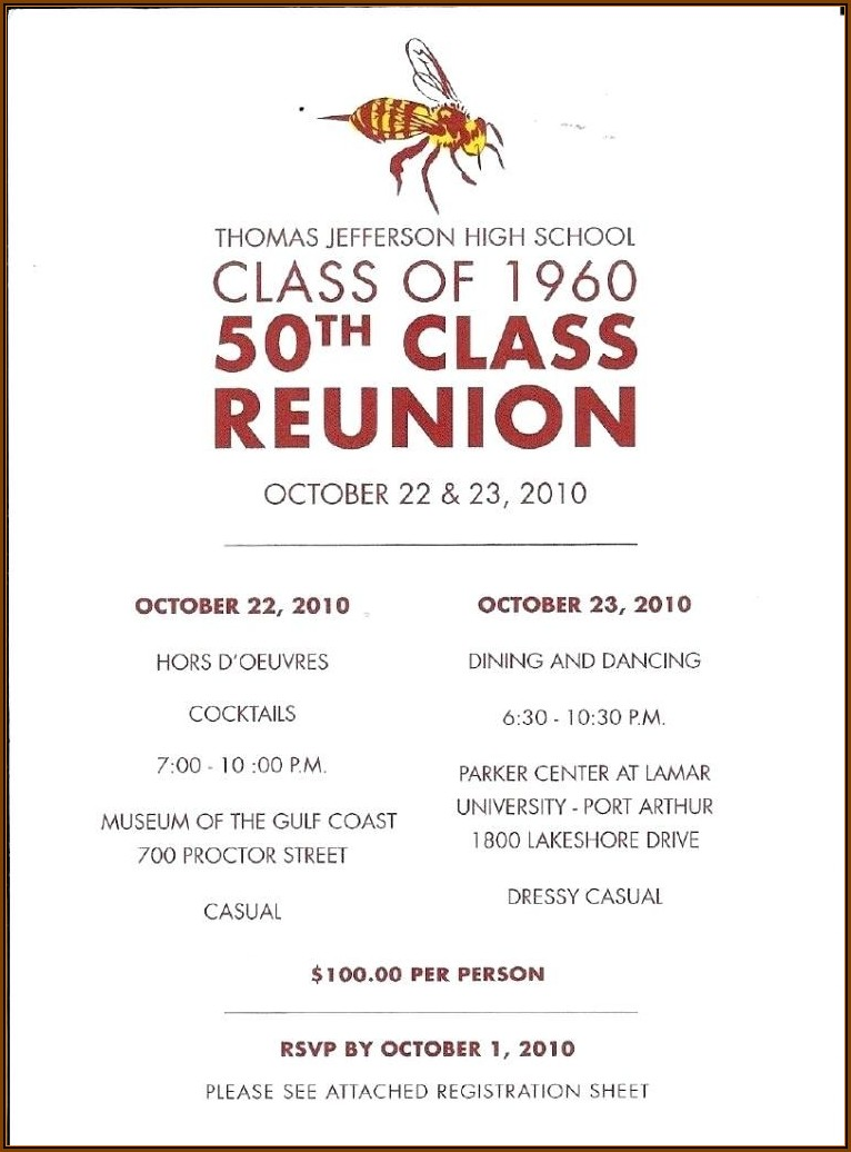 Class Reunion Flyer Templates Free