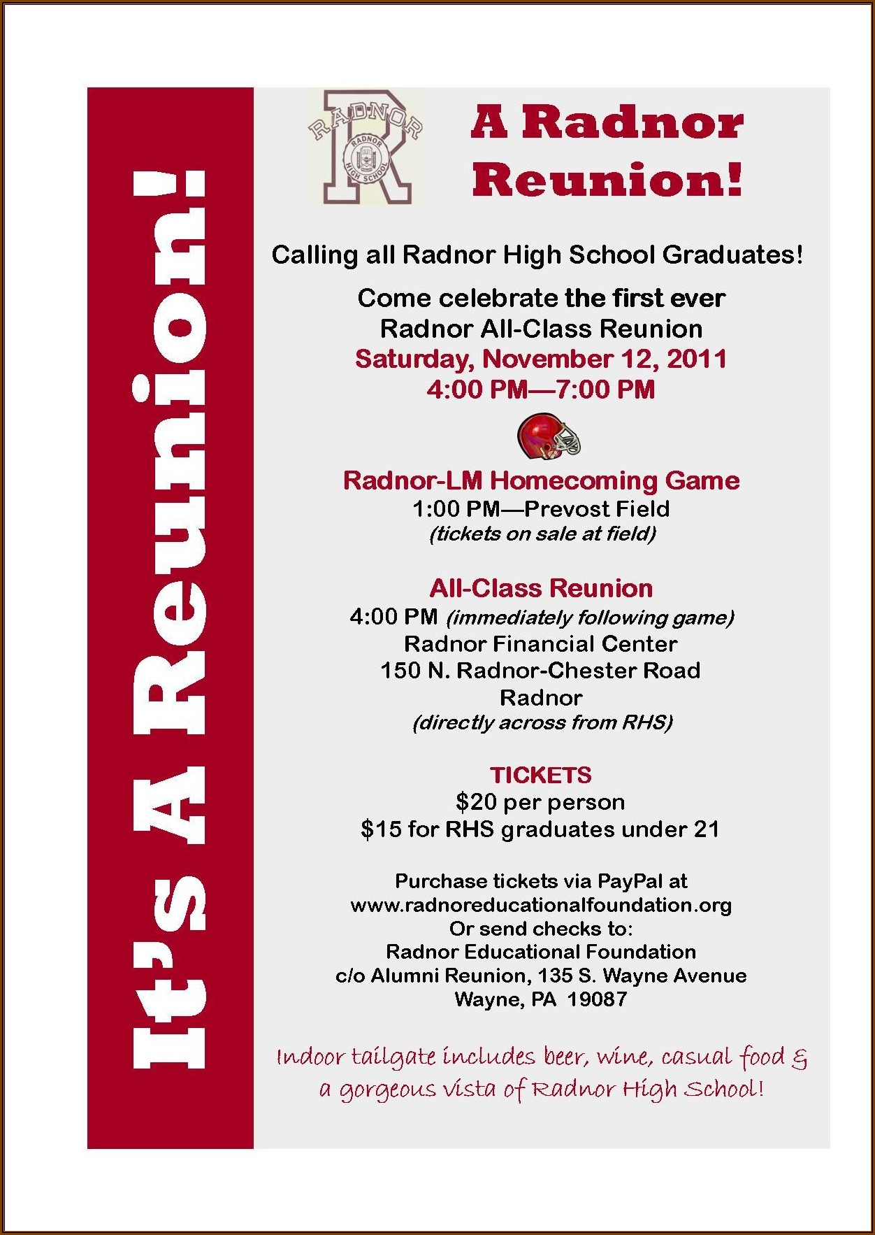 Class Reunion Invitation Card Template