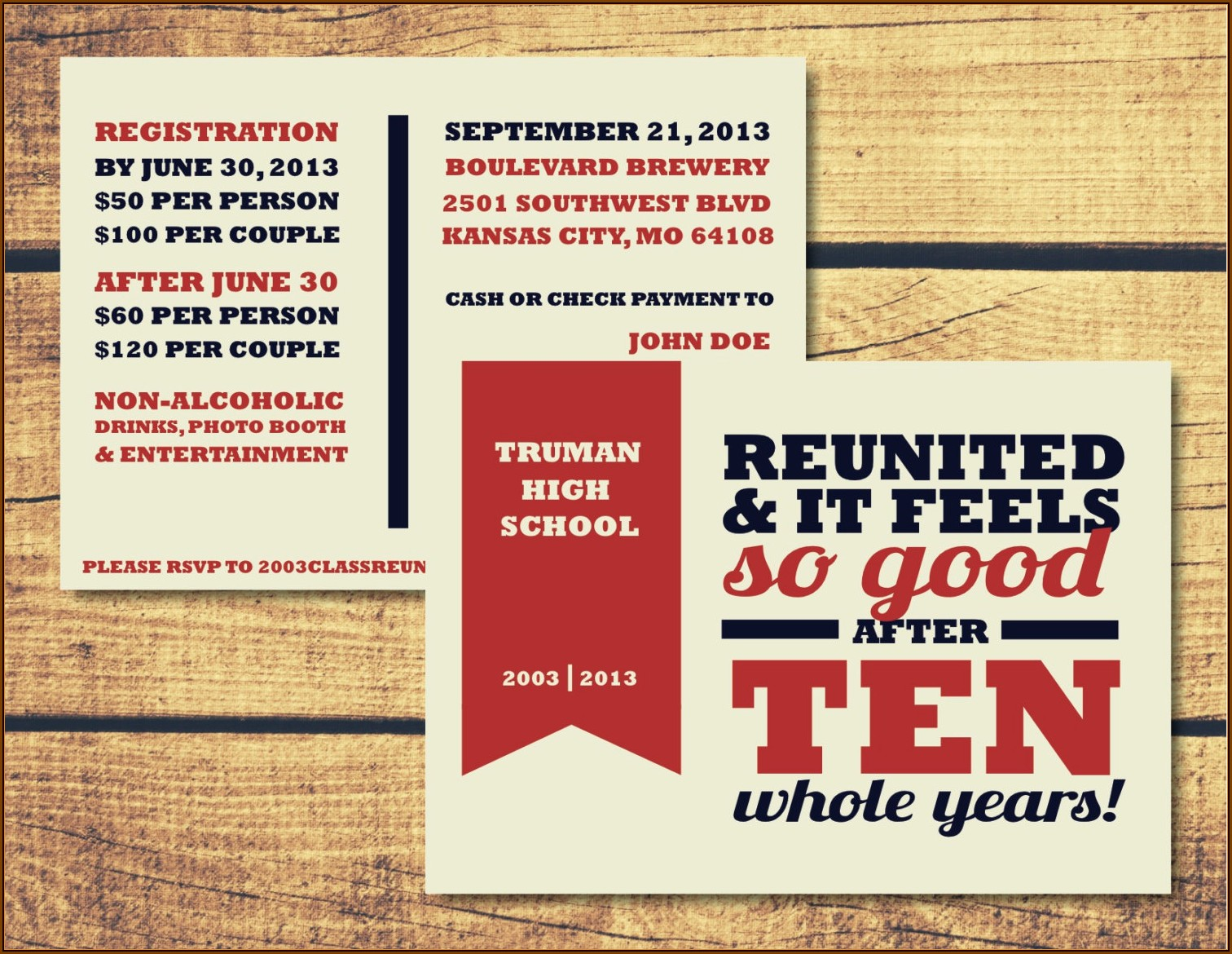 Class Reunion Invitation Maker