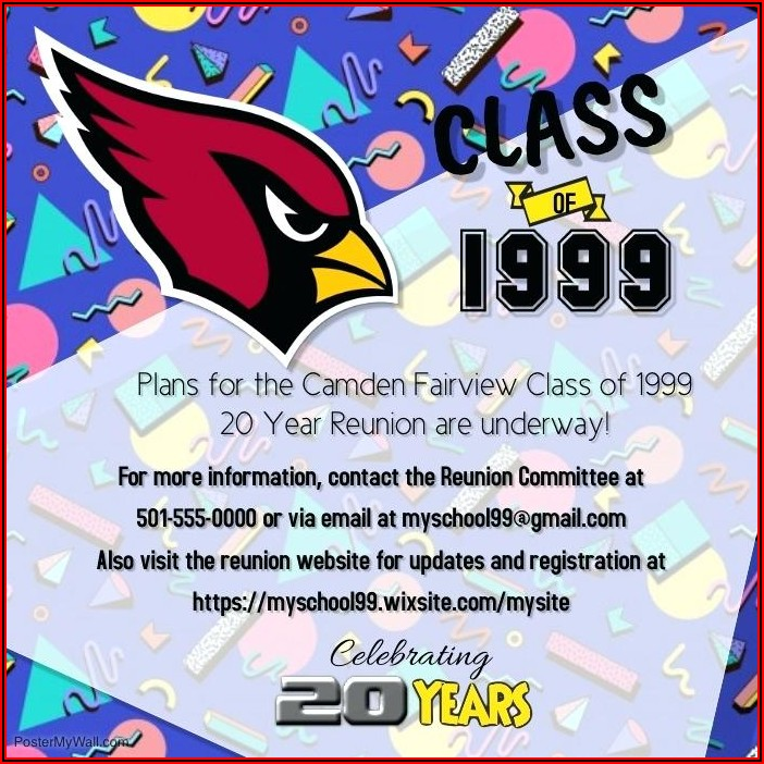 Class Reunion Website Templates