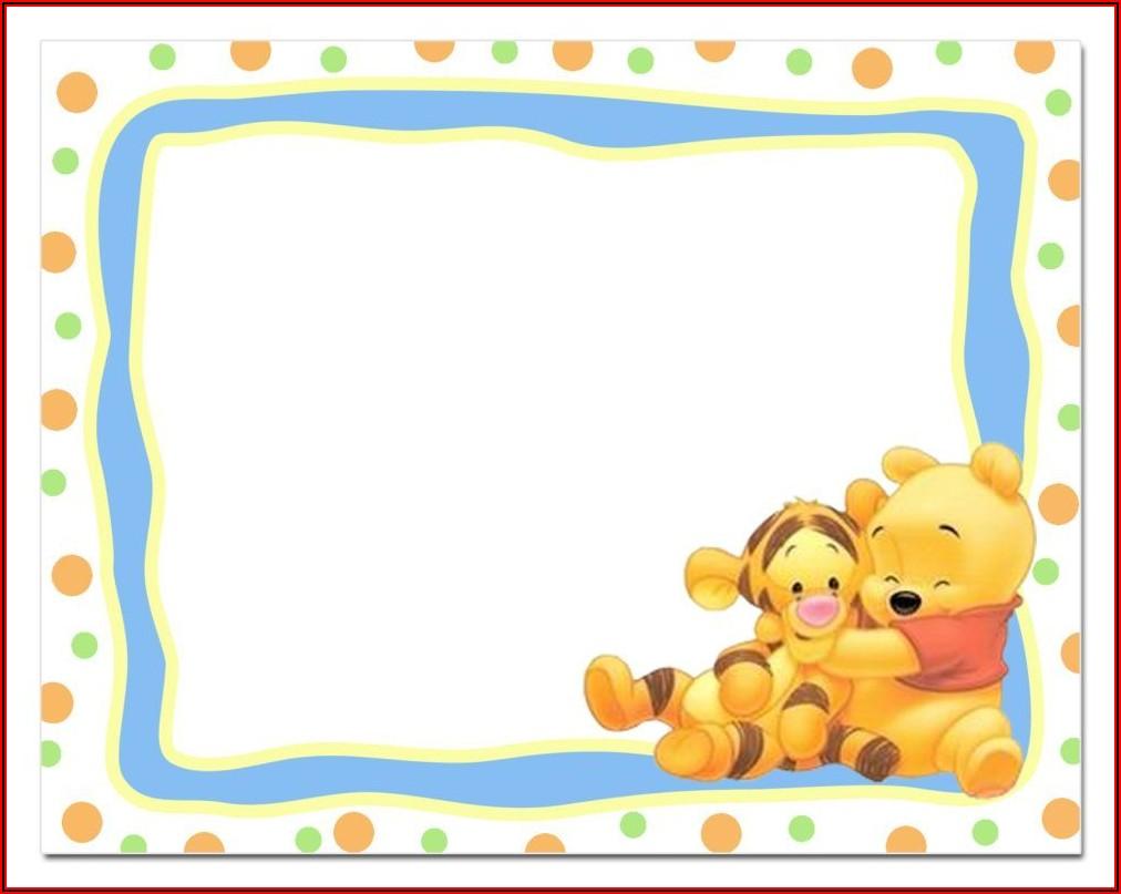 Classic Winnie The Pooh Invitation Template