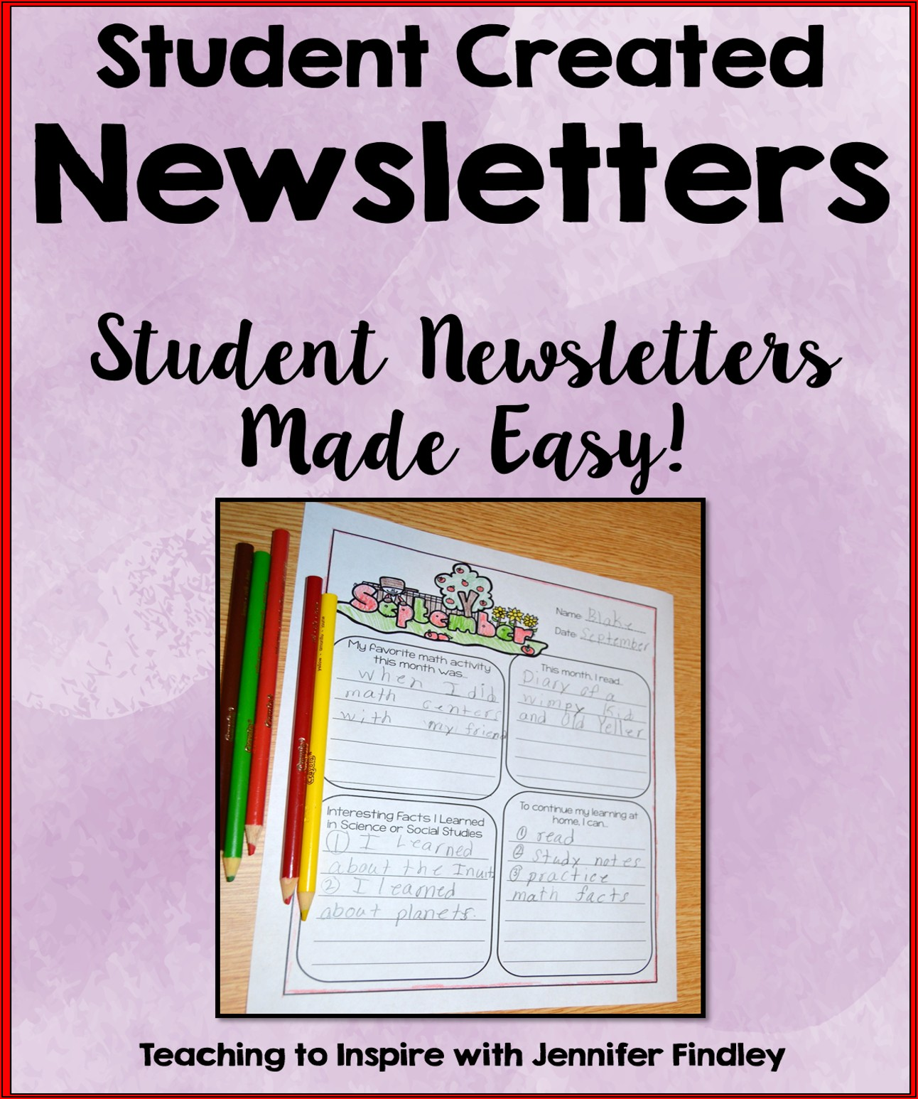 Classroom Newsletters Templates Free