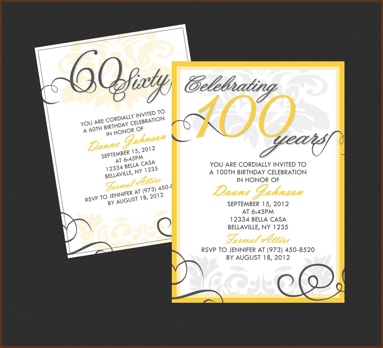 Classy Birthday Invitation Templates