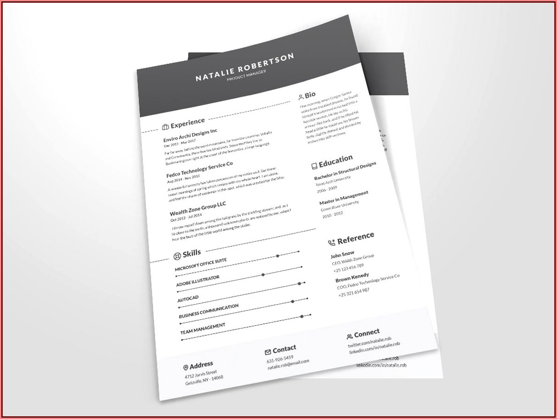 Clean Cv Resume Template Free Download
