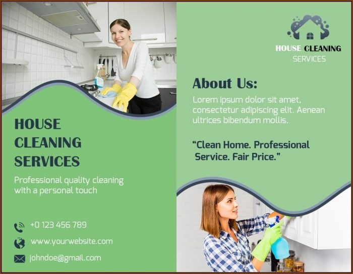Cleaning Service Brochure Templates