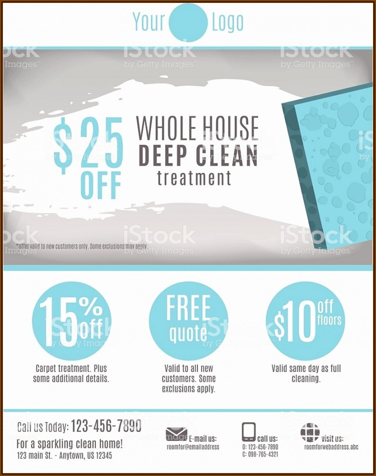 Cleaning Service Flyer Template Free