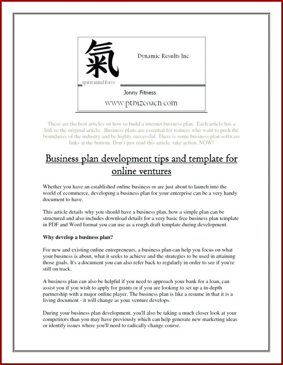 Clothing Brand Business Plan Example