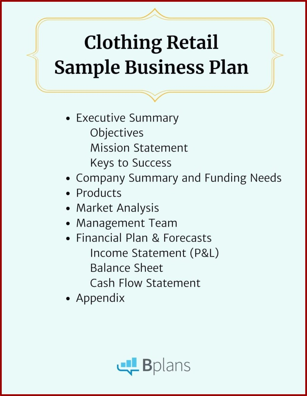 Clothing Line Business Plan Examples