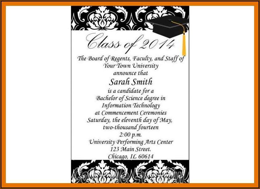 College Graduation Announcement Samples