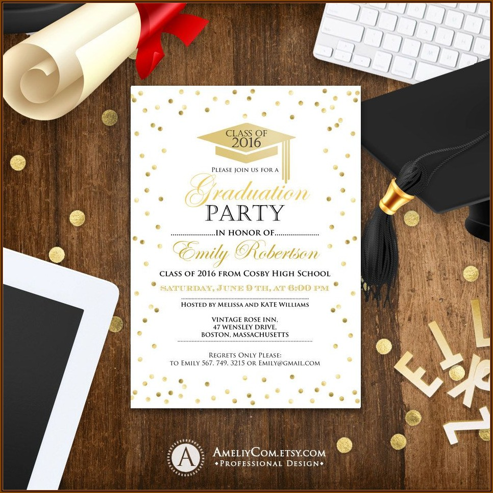 College Graduation Announcement Template
