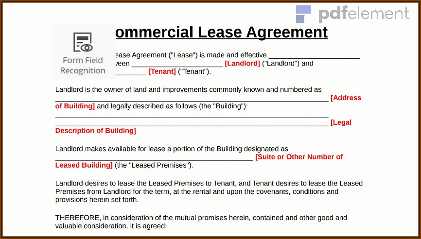 Commercial Sublease Agreement Template Victoria
